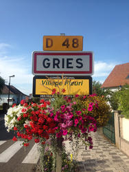 Gries, village fleuri